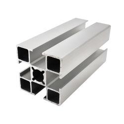 Qualityaluminum extrudé anodisé noir pour escalier haut la main courante l'anodisation au profil en aluminium industriel d'électrophorèse 40x40mm