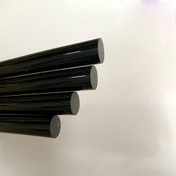 Il diametro rotondo solido nero acrilico su ordinazione 2 della barra di tovagliolo del Rod -300 millimetri ha tagliato in tutto il formato