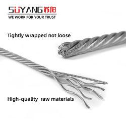7X19 AISI304のステンレス鋼ワイヤーロープのサイズ: 1-26mm