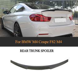 La fibre de carbone F82 M4 Voiture becquet arrière sur aile V Style pour BMW Série 4 Coupé M4 2014-2018