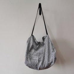 Tamanho grande Gray Tote Bag Dobragem fácil Sacola de Compras Dobrável e reciclar Sacola de Compras