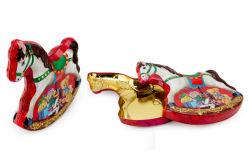 Pferdeform Dose für Weihnachtsdose Verpackung, Xmas Geschenk Dose, Metall Dose, Schokolade Dose, Dose für Plätzchen