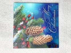 Venda por grosso de Natal Lenticular 3D alterando as fotos de cartões de felicitação