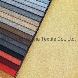 100% polyester de haute qualité de toile de lin pour canapé Chaise de rideau du tissu Costume pour la décoration de l'hôtel