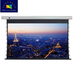 Электрический проектор экрана 100 дюймов Проекционный экран натяжения на вкладке под действием электропривода