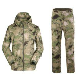 Vestito impermeabile tattico del rivestimento + di mutanda di Softshell dell'esercito dell'uniforme militare di 21 colore