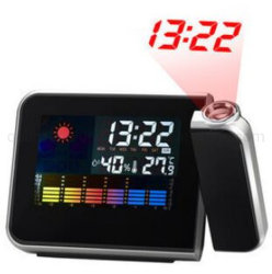 OEM無線カラー天気予報端末3Dの投射のデジタル時計