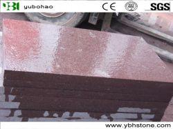 中国の赤いですか緑または灰色の斑岩の花こう岩のタイルか平板または合成のタイルまたは玉石の石または敷石