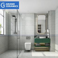 Fabricado na China por grosso de banho Bege Cozinha piso de cerâmica de porcelana vidrada azulejos de parede