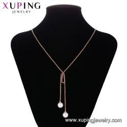 Monili d'imitazione della collana della catena del maglione del branello della perla di modo