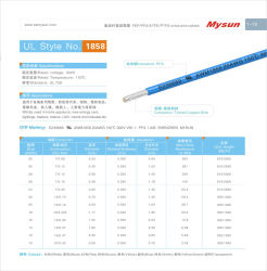 Haute température haute tension du fil électrique de la PFA 24 AWG