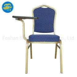 Hotel Mobiliário Projeto Ferro alumínio metálico de banquetes com cadeira de placa de escrita