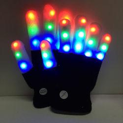 Halbe magische Handschuhe des Shenzhen-LED Licht-LED auf Lager