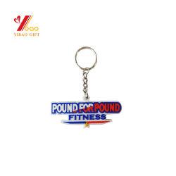 China Promoção Custom fazer seu próprio logotipo 3D Silicone Plástico Keyring Logotipo desenhos animados personalizados promocionais PVC maleável de borracha Chaveiro Chaveiro (YB-PK-21)