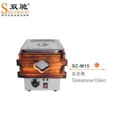 Aparência de madeira estilo chinês Oden Pesado massas mais quentes da máquina