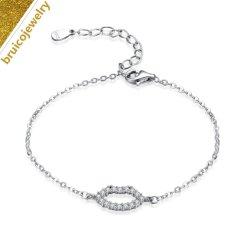 立方Zrirconiaの簡単なチェーン新しいデザイン宝石類925の純銀製の宝石類の腕輪のブレスレット