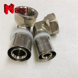 16mm 20mm de rosca fêmea de latão Cotovelo Pressione conexões para ligação do tubo de alimentação de água de plástico