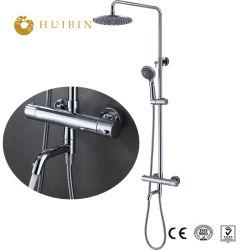 10インチの降雨量のシャワー・ヘッドの真鍮のサーモスタットのシャワーのコックセットの一定のシャワー止水栓セット