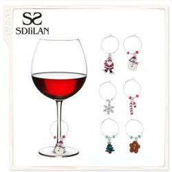 Vino Fino Colgante Anillo de vaso de vino encanto