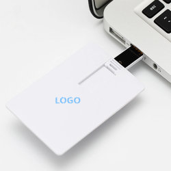 Logo di design personalizzato per la stampa di schede di carta USB 2.0 Pen Drive Unità flash USB 2.0 da 8 GB 16 GB 32 GB
