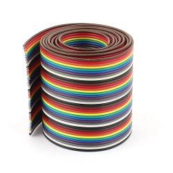 1m 40 방향 레인보우 컬러 플랫 리본 케이블 IDC Wire 1.27mm
