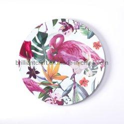 Swan fleurs floral personnalisé les plaques de papier jetable pour Noël Thanksgiving Halloween