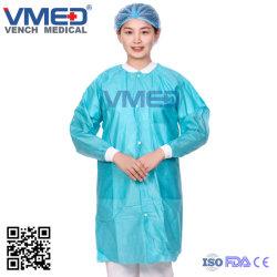 Schützender Abnützung-Laborwegwerfmantel-steriles Kleid u. Kleid
