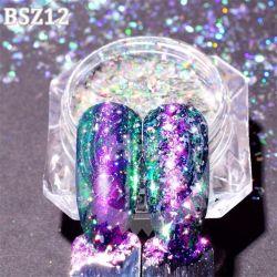 1pcs Chameleon paillettes glitter ongle Pigment holographique Shimmer Ciel étoilé Design DIY Nail Art poudre Jibs paillette Conseils07-27