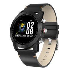 """Dt n° 1 S10 Smart Watch 1.3"""" Round étanches IP68 de l'écran Moniteur de fréquence cardiaque Appel de message de rappel de podomètre boussole chronomètre"""