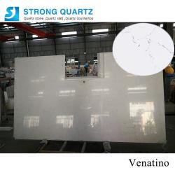 Il marmo/granito bianchi prefabbricati all'ingrosso di Carrara osserva la pietra del quarzo per i controsoffitti stanza da bagno/della cucina