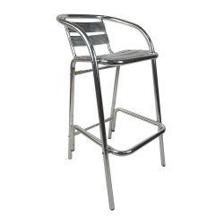 Preiswerter Aluminiumstab-Schemel für Gaststätte-Straßen-im Freienstab-Stuhl