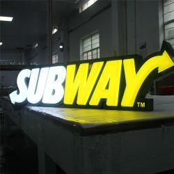 Untergrundbahn Zeichen-Ein Seite LED, die heller Kasten-Zeichen beleuchtet
