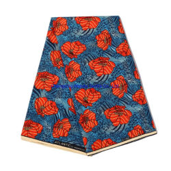 Polyester-Gewebe-Gewebe, afrikanisches nachgemachtes Wachs-Tuch-, einzelnes und doppeltesdrucken