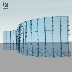 Zoll-Außenfassade-Glaszwischenwand-Armkreuz-Systems-Zwischenwand-glasierendes System/glasig-glänzende Aluminiumzwischenwände