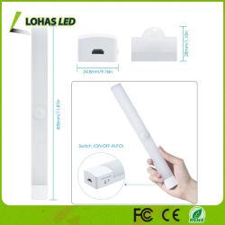 Luz Stick-on da noite do diodo emissor de luz do sensor de movimento do USB da luz da barra do diodo emissor de luz do armário