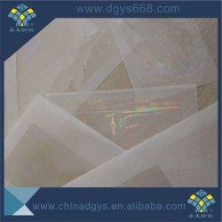 Faire de la garantie d'hologramme transparent des étiquettes de prix