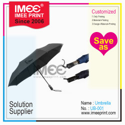주문을 받아서 만들어진 플라스틱 나무로 되는 고무 입히는 손잡이 우산 나무를 인쇄하는 Imee 로고