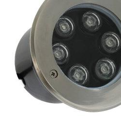 6 ВТ IP67 желтый RGB из нержавеющей стали для использования вне помещений путь сад пейзаж лампы освещения Inground LED подземных фонари