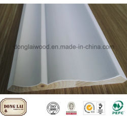 Matériaux de construction étanche Apprêt blanc plafond recouvert de moulures en bois de la Couronne pour la décoration d'accueil