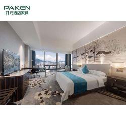 침실 세트를 위한 주문품 호화스러운 새로운 중국 작풍 나무로 되는 호텔 가구