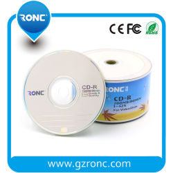 Media Disc CD vierge plein visage blanc CD-R imprimables jet d'encre