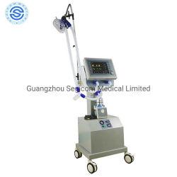 Ce медицинской продукции медицинское оборудование с экрана TFT Air-Compressor Аппарат ИВЛ для взрослых