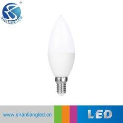 C37 بقوة 3 واط، غطاء بلاستيكي، مصباح شمعة LED E14/E27