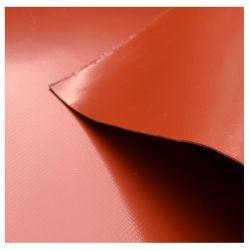 El aislamiento térmico 560GSM - Revestimiento de silicona para cortina de humo de tejido de fibra de vidrio.