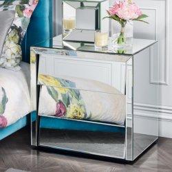 베니스 비스듬한 유리는 침대 탁자 3 서랍에 의하여 비친 가구를 비췄다