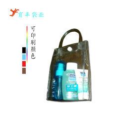 Пластиковый ПВХ поездки пляж взять на себя многоразовый магазинов набор туалетных принадлежностей промойте брелоки для макияжа ясно розового цвета сумку для