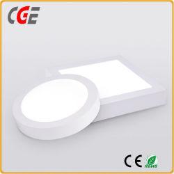 Lâmpada de luz de LED de 3 W/6 W/12W/15W/18W/24W Praça redonda de montagem em superfície de encaixe do painel de LED do painel de LED de luz