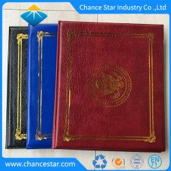 مجلد شهادة تخرج الجلد A4 المخصص، غطاء التخرج
