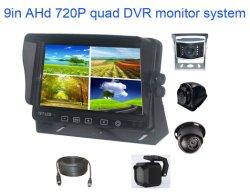 9 polegada HD 1080P Vista traseira do carro Quad Monitor LCD System