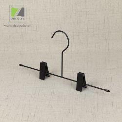 Crochet de Suspension de Vêtements en Métal Noir avec des Clips pour le Pantalon / Sous-Vêtements